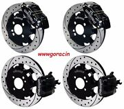 Wilwood Front And Rear Disc Brake Kit Fits 2002-15 Mini-cooperbmw Drilled Rotors