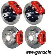 Wilwood Disc Brake Kit1964-1972 Chevy Chevelle13/12 Rotorsred Calipers