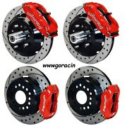 Wilwood Disc Brake Kit59-64 Impalabel Air13/12 Drilled Rotorsred Calipers