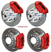 Wilwood Disc Brake Kit,1970-1978 Gm,11 Rotors,4 Piston Red Calipers,buick,olds.