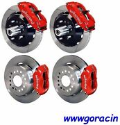 Wilwood Disc Brake Kit70-73 Fordmercury13/12 Slotted Rotorsred Calipers