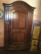 1965 Bloomingdaleand039s Antique French Armoire Solid Walnut.
