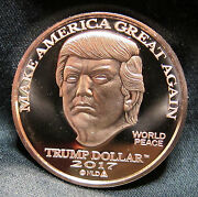 20 Coin Roll Lot Of 2017 Trump Dollar Make America Great Again Copper Rounds