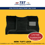 Moulded Car Carpets T23 Toyota Hiace Front Only 83-90
