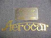 Aerocar Radiator Script And Data Plate Brass Etched 1905-08