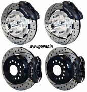 Wilwood Disc Brake Kit1965-68 Impala12 Drilled Rotors4 Piston Black Calipers