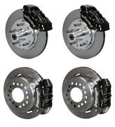 Front And Rear Wilwood Disc Brake Kit 59-64 Bel Airbiscayneimpala Black Calipers