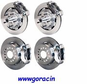 Wilwood Disc Brake Kit,complete,1965-1969 Ford Mustang,polished Calipers,12