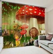 3d Fungus House Blockout Photo Curtain Printing Curtains Drapes Fabric Window Ca