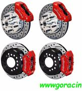 Wilwood Disc Brake Kit,fits 1965-69 Ford Mustang,11 Drilled Rotors,red Calipers