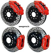 Wilwood Front And Rear Brakes 2005-2014 Mustang13/12 Drilled Rotors6/4 Piston