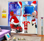 3d Christmas Blockout Photo Curtain Printing Curtains Drapes Fabric Window Ca