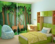 3d Deer Trees 9 Blockout Photo Curtain Printing Curtains Drapes Fabric Window Ca