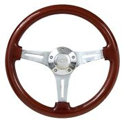 Real Wood 14 Steering Wheel + Adapter For 1969-1994 Gm Cars