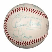 1959 Chicago Cubs Team Signed Nl Baseball Rogers Hornsby And Ernie Banks Jsa Coa