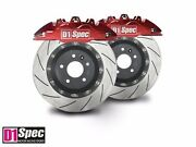 D1 Front Rs Red Forged Big Brake 4pots Caliper With 345mm Disc For 2013+ Accord