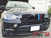 M Look /// Tri Gloss Black Front Grill Grille For 2008-2013 Bmw E71 X6 X6m