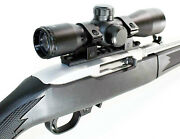 Trinity 4x32 Scope With Rail Mount For Ruger 10-22 Tactical Optics Mildot Reticl