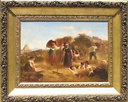 Abraham A. Zwahlen Swiss1830 - 1903 Oil Painting On Canvas Signed