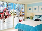 3d Snow House 7 Blockout Photo Curtain Printing Curtains Drapes Fabric Window Us