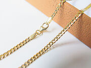 J.lee 18k Yellow Gold Necklace Solid Curb Link Chain / 3 Length 16.5-19.7