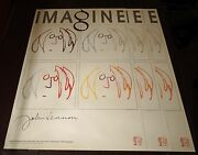 John Lennon - Imagine Hand Silk-screened Lithograph - X3 Sequential 's -bag One
