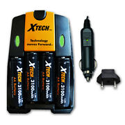 4 Aa Rechargeable Batteries 3100mah + Quick Ac/dc Charger For Nikon Coolpix L110