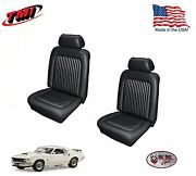 Black Front Bucket Seat Upholstery For 1969 Mustang Made In The Usa By Tmi