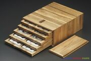 New Wooden Storage Box With Display Tray Handmade For Pcgs Slab Coin Holder