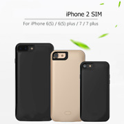 Battery Case Charger Dual Sim Standby Adapter For Iphone 7 Plus Power Bank