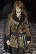 2008 F/w Runway Fur And Shearling Coat Jacket With Chain Details
