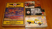 Gas And Oil Texaco / Shell 4 Diecast Vehicles, Truck, Tanker, Plane, Tugboatfft5