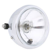 6and039and039 Motorcycle Side Mount Round 12v Headlight Amber Light Hi/low Beam Universal