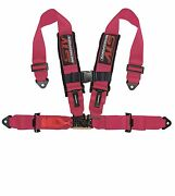 Pink Latch And Link 4 Points Safety Harness With Ultra Comfort Heavy Duty
