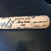 1983 All Star Game Team Signed Gary Carter Personal Game Issued Bat Psa Dna Coa