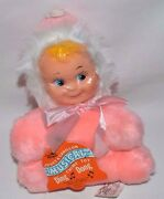 Nwt-new-vintage Regal Limited Musical Chime Toy Doll-ding Dong-fuzzy Pink Plush