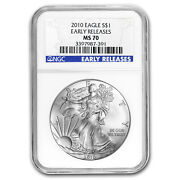 2010 Silver American Eagle Ms-70 Ngc Early Releases