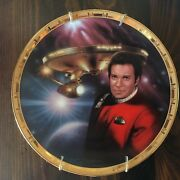 Admiral Kirk And The U.s.s. Enterprise Ncc-1701 Collector's Plate 4044c Nice