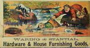 Waring And Stantial Hardware And House Furnishing Goods Men Fishing Falling Dog F80