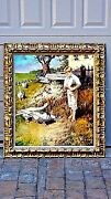 Feathered Friends By Regner,original Impressionist Oil Painting ,signed