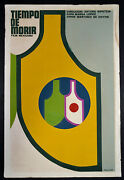 1969 Original Cuban Movie Postertime To Diemexican Film.highly Collectible Art