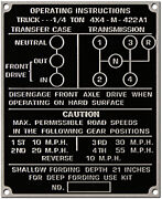 American Motors Mighty-mite Acid Etched Aluminum Data Plate Style 4