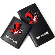 Persona 5 Take Your Heart Sign Wallet Leather Layers Short Long Cosplay Purse
