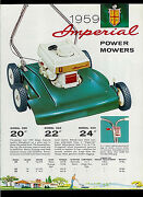 Rare Vintage 1959 Eska Imperial Power Mower Brochure With Price List And More