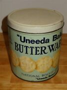 Vintage Uneeda Baking Butter Wafers National Biscuit Co Tin