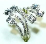 Special Sale Diamond Open Finger Ring 1.06 Ct Tw In 18k White Gold