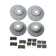 Mercedes Benz E55 Amg 2003-2006 Front And Rear Disc Brake Rotors And Pads Genuine