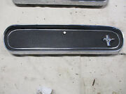 1965-1966 Ford Mustang Glove Box Door W/ Buttom And Emblem Runing Pony Parts Only