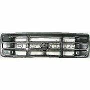 New Fo1200323 Front Grille Painted Gray Shell And Insert For Ford F-150 92-1997