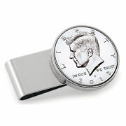 New Stainless Steel Silvertone Year To Remember Half Dollar Coin Money Clip 1997